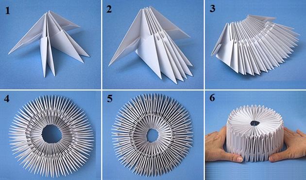 Модульное оригами из бумаги своими руками для начинающих