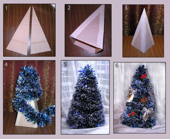Смотреть как сделать елку из бумаги