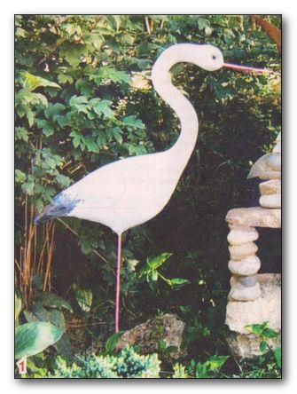 Декоративные птицы для сада своими руками