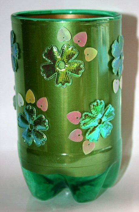 Как сделать вазу из пластмассовой бутылки своими руками